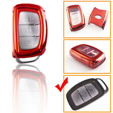 Full Cover Red TPU Key Fob Case For Hyundai Accent Santa Fe Elantra Tucson