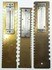Lot of 3 Dennison Gauge for Measuring Watch Mainsprings - Watchmaker Tool