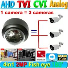HD 1080P wired CCTV security camera 2MP 180 degree Wide Angle Dome night vision