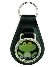 CUTE BABY FROG REPTILE LEATHER KEYRING