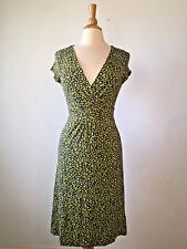 4R) BODEN*****SALE******* Crossover V-Neck Soft Knit Stretch Cheetah Dress