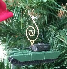 VINTAGE GREEN CENTURION MILITARY ARMY TANK CUSTOM MADE CHRISTMAS TREE ORNAMENT