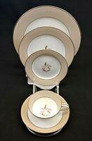 Noritake China Sheridan 5 Piece Place Setting Vintage 1953-1958 Rose Platinum