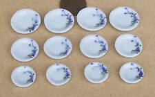 1:12 Scale 12 Piece Hand Painted Ceramic Plate Set Dolls House Miniature TS21