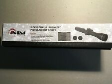 2-7X32 Dual-Illuminated Pistol / Scout Scope with Rings