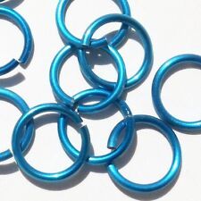 LIGHT BLUE Anodized Aluminum JUMP RINGS 300 1/4 16g SAW CUT Chainmail chain mail