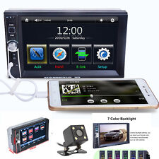 """NEW 6.6"""" Double 2DIN Car DVD Player Bluetooth MP3 MP5 Rearview Backup Handfree"""