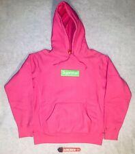 Supreme Box Logo Hoodie Sweatshirt Medium M Magenta Pink New w/tags FW17