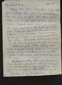 1945 World War WWII Military Love Letter Doctor Medical Corps New Caledonia Old
