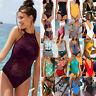 Damen Einteiler Push up Badeanzug Sommer Strand Bademode Schwimmanzug Monokini
