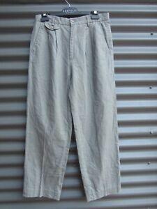 Weekenders Outdoor Collection Men's Green Linen Cotton Pants