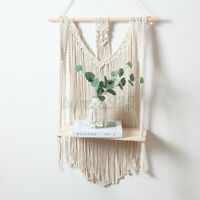 Woven Macrame Plant Hanger Holder Tapestries Wall Hanging Art Home Storag