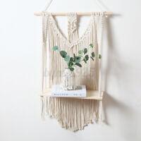 Woven Macrame Plant Hanger Holder Tapestries Wall Hanging Art Home Storag