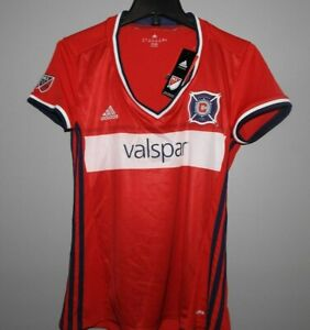 MLS Chicago Fire Adidas Red Soccer Jersey New Womens Sizes