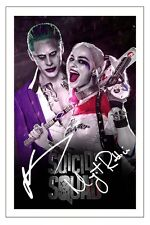 MARGOT ROBBIE & JARED LETO SUICIDE SQUAD SIGNED PHOTO PRINT AUTOGRAPH