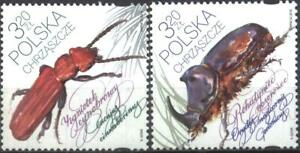 Mint stamps Fauna Insects Beetles 2018  from Poland  avdpz