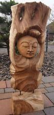 Buddha- Skulptur, Büste, Statue aus Edelholz. Handarbeit
