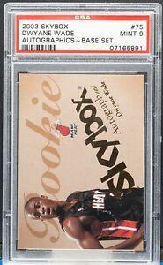 07165891 Dwyane Wade 2003 Skybox #75 Autographics RC Rookie 681/1500 PSA 9 HOF