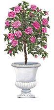 Tatouage Pink Rose Tree and Stone Urn Rub on Transfers by Yovan