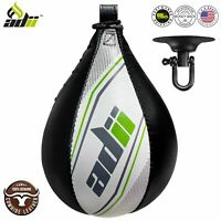 ADii™ Genuine Leather Boxing Speed Ball with Swivel Punching Training Speed bag