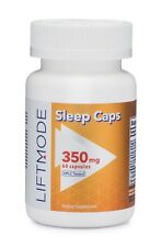 Liftmode All Natural Nighttime Sleep Aid Capsules - 60-count | Potent Deep Slee