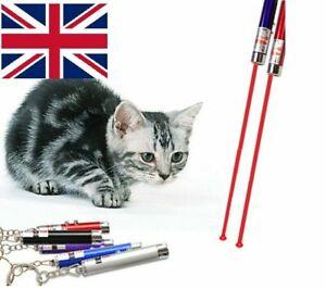 CAT DOG TOY 2in1 Red Lazer Pointer Pen / LED Light Interactive Laser - BEST UK
