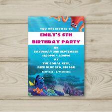 Finding Nemo Dory Fish Sea Ocean Birthday Party Invitations Personalised
