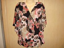 WOMEN'S  PLUS SIZE BLOUSE TOP SHIRT SIZE 18/20 DRESSBARN  BATWING SLEEVES