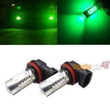 2pcs High Power 7.5W Green H11 H8 COB LED Projector Bulbs for Fog Light DRL