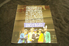 """Vampire Weekend 2013 congrats ad for #1 album & 'Unstaged"""" with Steve Buscemi"""