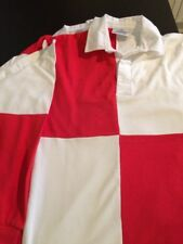 4 Adult's Cross Country Rugby Shirts for a team Red/White Quarters S-34/36""