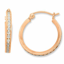 Hoop Rose Gold Filled Fashion Earrings