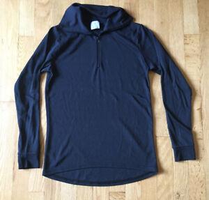 Polarmax Womens M Base Layer Top Long Sleeve Thermal 1/4 Zip Turtleneck Shirt