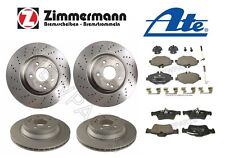 For Mercedes Benz W211 E320 2003-2009 Front & Rear Disc Brake Rotors w/ Pads KIT