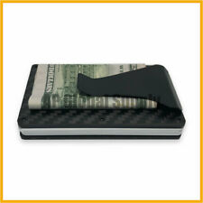 Men's Minimalist Carbon Fiber Wallet Card Holder With Money Clip