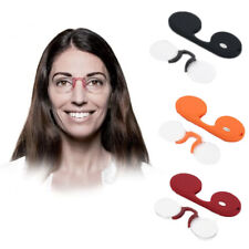 Fashion Men&Women Armless Nose Clip Reading Glasses Rimless Glasses Parents Gift