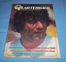 NY Jets Joe Namath Pro Quarterback Magazine 1972
