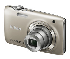 Nikon COOLPIX S3100 14.0 MP Digital Camera - Silver