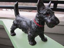 VINTAGE ORIGINAL HUBLEY STANDING CAST IRON BLACK SCOTTIE DOG ART STATUE DOORSTOP