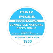 1950 BONNEVILLE NATIONAL SPEED TRIALS HOT ROD RACING NHRA DECAL BUMPER STICKER