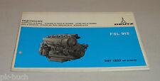 Teilekatalog Deutz Diesel Motor F 5 L 912 Stand 11/1972