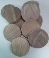 6 Holzscheiben Nussbaum handwerklich in eigener Herstellung gefertigt-80mm