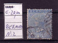 BERMUDA  ;  USATO - USED ;  YVERT  2 ;   2 PENCE ;A23