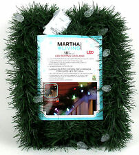 18 FT CHRISTMAS ROPE GARLAND with COLOR CHANGING LED LIGHTS / SEE LIVE VIDEO!
