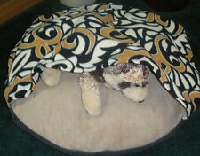 SMALL DOG BED SLEEPING BAG, AFRICAN ART, COMFY COZY, MANY COLOR OPTIONS