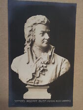 antique post card SEFFNERs MOZART BUST Peters Library