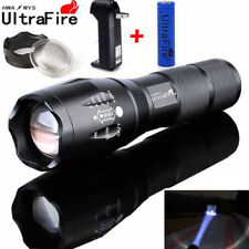 Ultrafire 50000LM T6 LED Flashlight Zoomable Tactical 18650 Battery+Torch+CHAR
