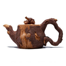 Chinese Yixing Zisha Pottery 180cc Duan Clay Handmade Lizard Tree Stool Teapot