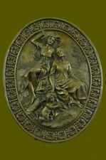 Art Nouveau Roman Girls & Baby Decor Bas Relief Bronze Sculpture Figure Statues