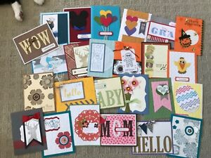 Demonstrator quality 25 card swaps fronts made w/ Stampin' Up!